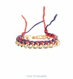 "These hand braided silk bracelets are a modern spin on the friendship bracelet and add a pop of color to any outfit. 2 strands of 100% silk are woven together with gold-fill twisted curb chain.  Wear just one or stack them up together!! Length: 7""Colors shown: coral"
