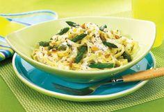 Fettucine aux asperges et au fromage à la crème