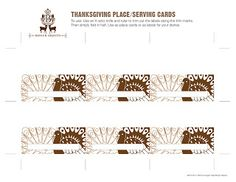 Freebie: Benign Objects Thanksgiving Place Cards