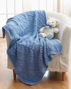 Textured Crochet Blanket: free pattern