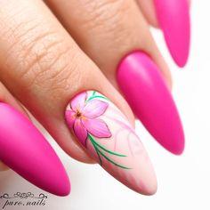Fruit Nail Designs, Flower Nail Designs, Flower Nail Art, Nail Art Designs, Plum Nails, Bling Nails, Swag Nails, Gel Nails, Jamaica Nails
