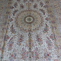 No.525D  183x274cm  handmade silk carpet  ||  harry@camelcarpet.com