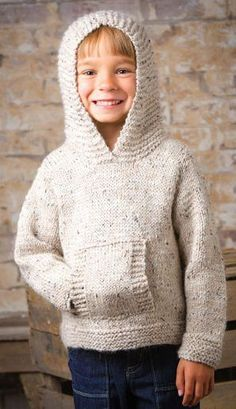 Knitting pattern for Jumping Bean Hoodie Pullover Sweater