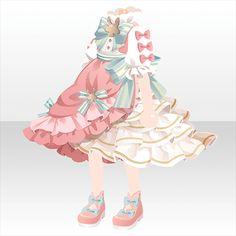 Petits Champignons|@games -アットゲームズ- Manga Clothes, Drawing Clothes, Anime Girl Dress, Anime Art Girl, Anime Outfits, Girl Outfits, Cute Outfits, Kawaii Dress, Cocoppa Play