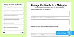 Simile, Phonics, Grammar, Change