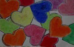 Kim & Karen: 2 Soul Sisters (Art Education Blog): Drawing Candy Hearts