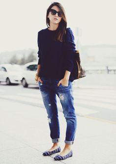 sueter-calca-boyfriend  ou tb blusa do led com sapatilha arabesco ou botinha
