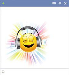 Headphones emoticon