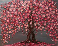 Cherry Blossom Trees The Jewels of Love Original oil impasto painting on Stretched Canvas Ready to ship Cherry Blossom árboles gris rosa Original óleo de empaste Cherry Blossom Painting, Cherry Blossom Tree, Blossom Trees, Cherry Tree, Blossom Tree Wedding, Pink Flowering Trees, Abstract Tree Painting, Acrylic Paintings, Painting Trees On Canvas