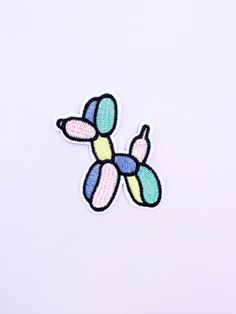 Pastel Balloon Dog Iron On Patch – Pastel Goth Patch – Kawaii Patch – Cute Patch – Pastel Pink Patch – Girly Patch – Jean Jacket Patch - diy clothes Recycling Ideen Cute Patches, Diy Patches, Pin And Patches, Iron On Patches, Embroidery Patches, Diy Embroidery, Embroidery Patterns, Patch Jeans, Balloon Dog