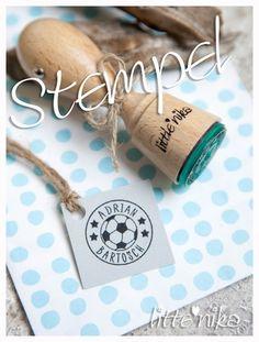 Namen & Monogramme - Stempel Name + Nachname Fußball - ein Designerstück von littlenika bei DaWanda