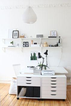 Home Office Styling und @artboxone Gewinnspiel | Workspace | Arbeitszimmer Inspiration | Black & White