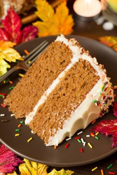 Autumn+Spice+Cake+with+Cream+Cheese+Frosting