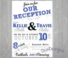 reception only invitations wedding colors can be by desidesigns7 - Wedding Reception Only Invitations