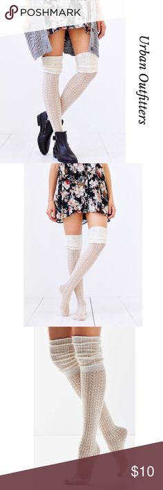 🎀UO TONAL SCRUNCHY OVER THE KNEES SOCKS🎀 NWT, Beautiful Urban Outfitters Tonal Scrunchy Over the Knees Socks by Out From Under. Featuring two tone colors and beautiful design. Soft and chic. Wear them with your favorite boots. Bundle and save. Please, feel free to ask me any questions. Line tag to prevent store returns. Urban Outfitters Accessories Hosiery & Socks