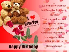 Romantic Birthday Wishes Messages, Greetings and Wishes - Messages, Wordings and Gift Ideas