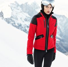 Leonie ski jacket in red by Goldbergh and available at Winternational.co.uk