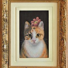 My little painting 'Typhoo' featured on Folt Bolt Club on Instagram. (October colour challenge) Typhoo, Cat Art, Original Artwork, Cat Paintings, Colours, Gallery, Cats, Frame, October