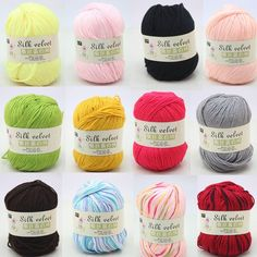 1*50g Soft Protein Cashmere Silk Wool Baby Yarn Crochet Cotton Wool Hand-Knitted