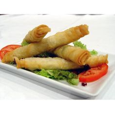'Cigarette Pastry' Made with white 'feta' cheese tastes great with dips! Make a lot and leave them in the freezer then fry them for the perfect snack!