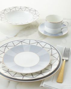 Grande Connelley & Duke Dinnerware with Channing Charger Plate by B by Brandie at Horchow.