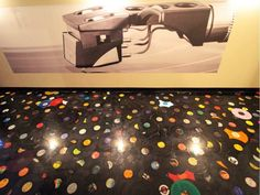 Hundreds of records are embedded in the basement floor of The Needle Vinyl Tavern in a bold design by local carpenter-artist Zachary Garrett. The new venue at 10524 Jasper Ave. in the old CKUA building, with two stages and a full restaurant, is set to open Thursday.