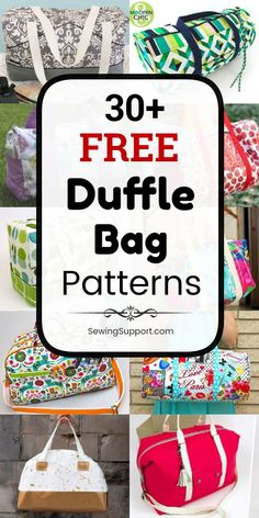 Bag Patterns for Duffle Bags. 30 free duffle bag patterns diy projects and tutorials to sew. Great for weekend travel kids school sports and gym. Duffle Bag Patterns, Bag Patterns To Sew, Sewing Patterns Free, Free Sewing, Diy Sewing Projects, Sewing Projects For Beginners, Sewing Tutorials, Sewing Tips, Sewing Hacks