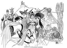Rodgers and Hammerstein's CINDERELLA (Leslie Ann Warren version) ~ Al Hirschfeld