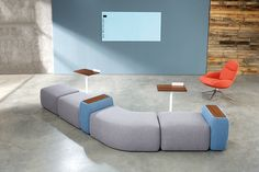 HighTower's new Kona Modular Lounge System, designed by Most Modest, delivers a flexible, adaptable solution - providing a fun, easy-to-configure palette for designers and comfort and versatility for today's busy user.  Find out more: http://hightoweraccess.com/product/kona-modular-lounge/