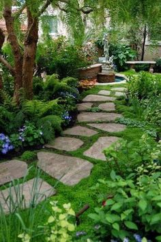 46 simple front yard backyard landscaping ideas on a budget 7 - сад - Jardinería Landscaping Tips, Front Yard Landscaping, Outdoor Landscaping, Front Yard Walkway, Landscaping Borders, Amazing Gardens, Beautiful Gardens, Beautiful Things, Front Yard Design