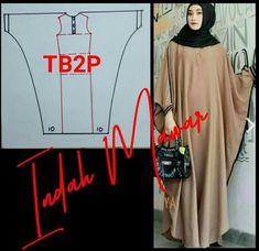 Abaya Pattern, Gown Pattern, Dress Sewing Patterns, Clothing Patterns, Refashion Dress, Sewing Terms, Abaya Fashion, Mode Hijab, Sewing Clothes