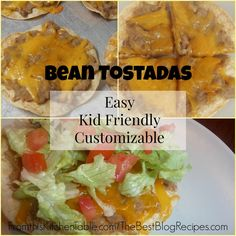 Bean Tostadas. A super easy meal to feed your family.