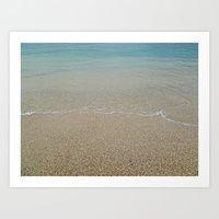 Sandy Beach Art Print by Carolyn Jones   Society6