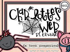 Everyone loves Charlotte's Web... me included! This pack was so much fun to create. In this book companion you will find: Comprehension questions (and answer key) for all 22 chapters. Graphic organizers for all main characters Story map Which animal character