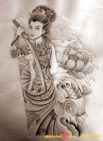 hình xăm geisha 33