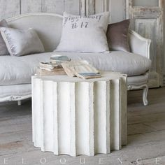 The new Column Coffee Table by Eloquence Inc. is a modern take on a classic theme. Pair it together with the Column Side Table or use it separately to add some old world elegance to your living space.  FREE SHIPPING.  $938