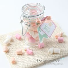 Première Communion, Godchild, Candy Jars, Baby Party, Marie, Mason Jars, Favors, Creations, Packaging