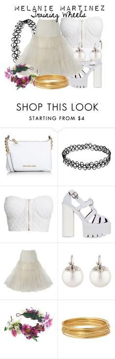 """Melanie Martinez - Training Wheels"" by nerd-ville ❤ liked on Polyvore featuring Michael Kors, NLY Trend, Jeffrey Campbell, Samira 13, Rock 'N Rose, Bold Elements and melaniemartinez"