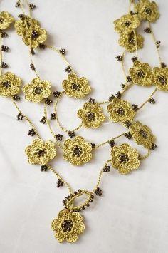 oya crochet lariat necklace:
