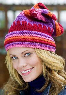 valentine crochet hat, ravelry, red heart, free pattern