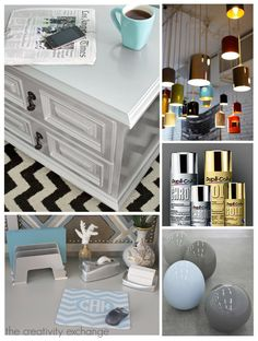 Using automotive spray paints for transforming fixtures & furniture {Paint It Monday} The Creativity Exchange