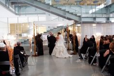 A clean, modern wedding at our Venue Six10, Chicago.