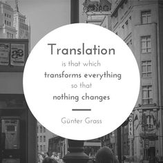 Gunter Grass on translation