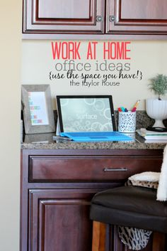 Create an Efficient Work From Home Office #MicrosoftBloggers - The Taylor House
