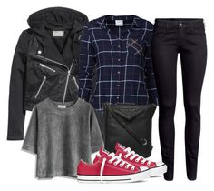 """""""Tyler Inspired Winter Outfit"""" by fangsandfashion ❤ liked on Polyvore featuring H&M, Vero Moda, Chicwish, Fiorelli, Converse, Winter, vampirediaries, TylerLockwood and tyler"""