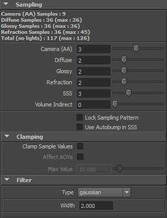 Sampling - Arnold for Maya User Guide - Solid Angle