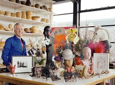 Milliner Philip Treacy in his studio. Photo by Kevin Davies