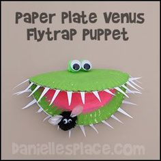 "What a fun craft activity for making a venus flytrap... the kids would love to learn more about this ""WOW"" plant."