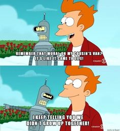 "When Fry had to be reminded about his own childhood. | 22 Times ""Futurama"" Was The Funniest Damn Show Ever"