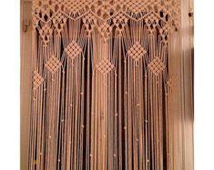 Macrame Curtain. HANDMADE. Macrame wall by mislanascreativas